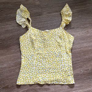 NWOT Floral Printer Blouse